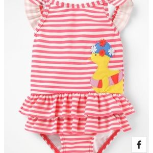 476eddb9a0934 Mini Boden Swim - NWT-Mini Boden Pretty Frills Swimsuit 12/18 months
